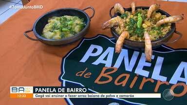 Panela de Bairro ensina a receita de arroz com polvo e camarão - Receita vai ser apresentada na edição de sábado (18).