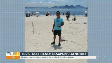 Dois turistas chilenos, que vieram passar férias no Rio, estão desaparecidos - O último contato que os turistas fizeram com a família foi no dia 9, à noite, na Lapa.