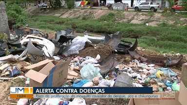 Maranhão está entre os estados em alerta contra a dengue segundo Ministério da Saúde - Risco de proliferação do mosquito é constante, principalmente em áreas onde o lixo fica acumulado.