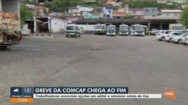 Trabalhadores da Comcap encerram greve e retomam a coleta de lixo em Florianópolis - Trabalhadores da Comcap encerram greve e retomam a coleta de lixo em Florianópolis