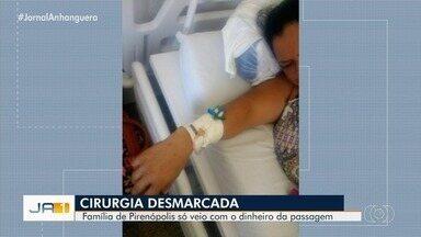 Família reclama de cirurgia desmarcada várias vezes na Santa Casa de Goiânia - Paciente saiu de Pirenópolis para fazer operação nos rins em hospital da capital.