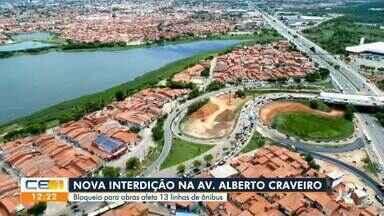 Av. Alberto Craveiro é interditada - Saiba mais em g1.com.br/ce