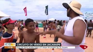 Praia da Serra recebe segunda etapa do projeto da TV Gazeta - Muita gente se divertiu com a programação na praia de Jacaraípe.