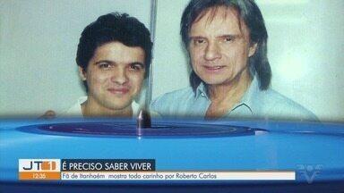 Fã de Roberto Carlos mostra coleção que tem do cantor em Itanhaém - No próximo dia 25 o cantor se apresentará no Kartódromo de Praia Grande.