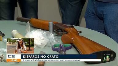 Comerciante morre em acidente na CE-176 e adolescentes são apreendidos no Crato - Saiba mais em g1.com.br/ce