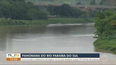 RJ1 mostra como tratamento do Rio Paraíba influencia no abastecimento de água - Rio abastece quase 10 milhões de pessoas.