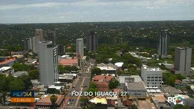 Fim de semana quente no oeste e sudoeste do Paraná - Não há previsão de chuva até domingo.