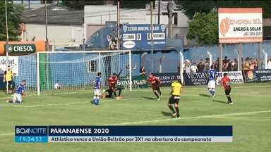 União Beltrão e Athletico fazem o primeiro jogo do Paranaense 2020 - O Furacão venceu fora de casa.