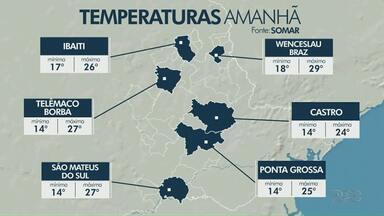 Domingo tem previsão de sol nos Campos Gerais - A máxima em Ponta Grossa deve alcançar 25°C.