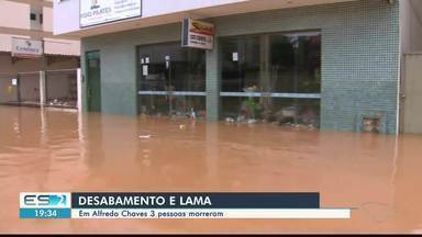 Alfredo Chaves é o município onde mais choveu no ES nas últimas 24 horas - Três pessoas morreram na cidade.