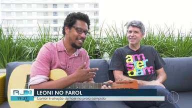 Cantor Leoni apresenta seus hits clássicos na praia campista de Farol de São Thomé, no RJ - Apresentação acontece neste sábado (18), às 22h.