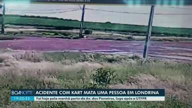Acidente com Kart mata jovem de Londrina - Peritos investigam a batida que aconteceu numa avenida da cidade.