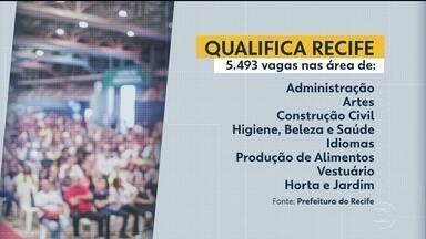 Qualifica Recife ofecere 5.493 vagas gratuitas em cursos - Inscrições começam ao meio-dia desta terça-feira (21).