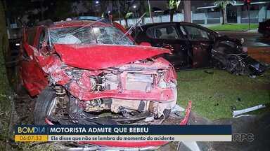 Motorista envolvido em grave acidente no Água Verde admite que bebeu - Mas o jovem disse que não se lembra do momento do acidente.