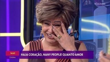 'Se Joga' invade o celular de Nany People - Lilia Cabral, Nicette Bruno, Robson Nunes e família mandam mensagem para Nany