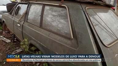 Latas-velhas viram 'modelos de luxo' para a dengue - Moradores de Maringá reclamam de veículos abandonados.