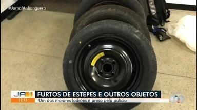 Homem suspeito de furto de estepes é preso em Goiânia - Ele é considerado um dos maiores ladrões desta modalidade.