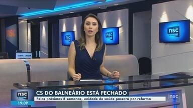 Centro de Saúde do Balneário, em Florianópolis, está fechado - Centro de Saúde do Balneário, em Florianópolis, está fechado