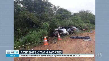 Destaques do dia: quatro pessoas morrem e três ficam feridas em acidente na BR 116 - Veja este e outros destaques desta sexta-feira (24).