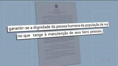 Prefeitura é proibida de recolher pertences de moradores de rua - A decisão é da justiça e se aplica a prefeitura de Curitiba