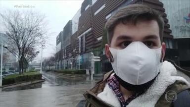 Brasileiro conta rotina de cidade isolada onde surgiu o coronavírus - Heros Martines mora há dois anos em Wuhan, onde estuda mandarim. Cidade é o marco zero do vírus que assusta o mundo.