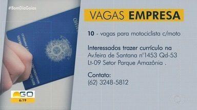 Confira as vagas de emprego para Goiás - Empresa contrata 10 motociclistas com moto.