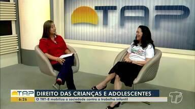 TRT-8 mobiliza a sociedade contra o trabalho infantil - Desembargadora fala sobre ações realizadas na região.