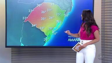 Norte do RS pode ter chuva nesta terça-feira; resto do estado tem tempo firme - Calor continua em todas as regiões.