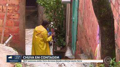 Contagem recebe doações para pessoas desabrigadas pela chuva - 1831 pessoas tiveram que sair de casa na cidade que fica na região metropolitana de BH.