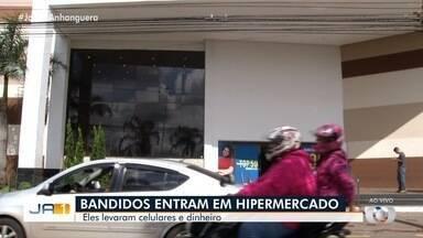 Hipermercado é furtado em Anápolis - Suspeitos levaram celulares e dinheiro.