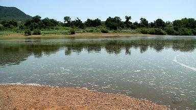 Surgimento de espuma na água do Rio Taquari preocupa moradores - Análise da espuma não indica poluição.