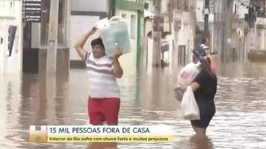 Chuvas no RJ deixam Itaperuna, no interior do estado, com muitos estragos - O Rio de Janeiro também sofreu com as chuvas do fim de semana. A situação mais grave é no norte e no noroeste do estado.