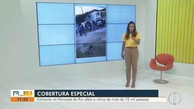 Enchente no Noroeste do Rio afeta a rotina de mais de 6 mil pessoas - Famílias perderam casas e demais pertences depois da chuva forte da última semana que atingiu a região.