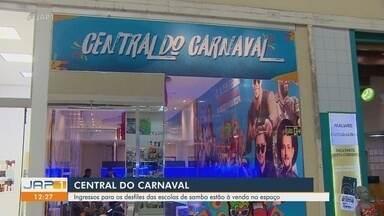 Inaugurada a Central do Carnaval do Amapá dentro de shopping na Zona Sul de Macapá - Ingressos para os desfiles das escolas de samba estão à venda no espaço.
