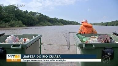 Balsa ecológica volta a funcionar pra fazer a limpeza do rio - Balsa ecológica volta a funcionar pra fazer a limpeza do rio.