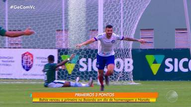 Primeira vitória do Bahia no 'Baianão' foi contra o Vitória da Conquista, no domingo - O tricolor garantiu 3 pontos nesta rodada do campeonato.