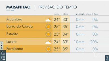 Veja as variações das temperaturas no Maranhão - Confira a previsão do tempo nesta terça-feira (28) em São Luís e no interior do Maranhão.