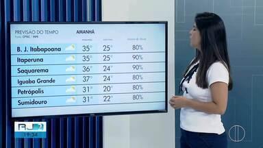 Confira a previsão do tempo desta quinta-feira, 30 de janeiro de 2020 - Fabiana Lima traz as temperaturas das cidades do interior do Rio.