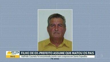 Filho do ex-prefeito de Santo Expedito assume que matou os pais - Segundo a polícia ele confessou o crime.