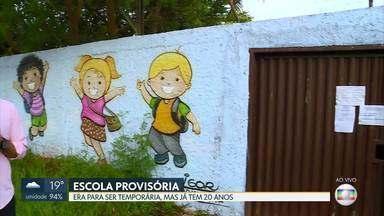 Ponte Alta Norte do Gama tem escola provisória há 20 anos - O CED Casa Grande divide espaço com um centro comunitário. Mas diretor da unidade disse que escola foi reformada e não é mais provisória.