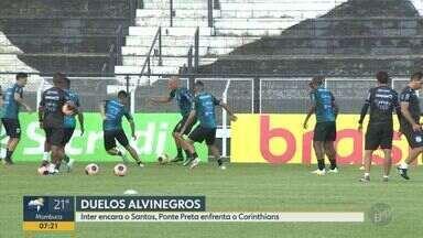 Inter de Limeira encara o Santos e Ponte Preta enfrenta o Corinthians - Veja as informações sobre as partidas, que acontecem nesta quinta-feira (30).