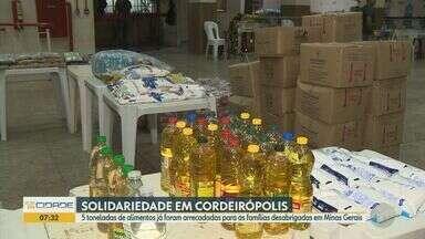 Cordeirópolis realiza campanha de arrecadação de donativos para vítimas de enchentes em MG - Parte dos itens arrecadados já foi enviado para Minas, mas iniciativa segue até sexta-feira (31).