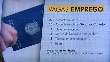 Confira as vagas de emprego para Goiás - Empresa contrata auxiliar de vendas com experiência em carteira.