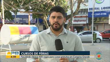 Faculdade de Campina Grande inscreve para 400 vagas em cursos gratuitos de férias - Confira os detalhes com o repórter Artur Lira.