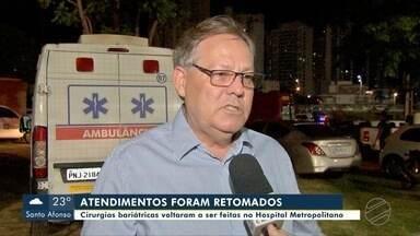 Cirurgias bariátricas voltaram a ser feitas no Hospital Metropolitano, em Várzea Grande - Cirurgias bariátricas voltaram a ser feitas no Hospital Metropolitano, em Várzea Grande