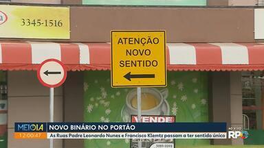 Novo binário no Portão - As Ruas Padre Leonardo Nunes e Francisco Klemtz passam a ter sentido único.