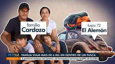 Família venezuelana viaja mais de 6 mil km dentro de um fusca - A família veio embora para o Brasil com 500 dólares no bolso, um fusca ano 1972 e muitos sonhos
