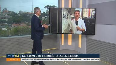 149 casos de homicídios esclarecidos em Curitiba em 2019 - Polícia Civil alcançou índice de 61% de solução nos crimes em Curitiba no ano passado.