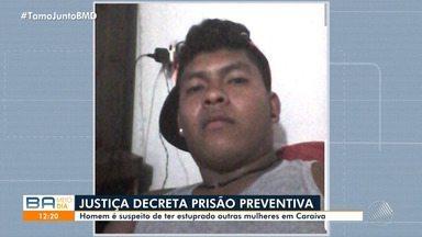 Suspeito de estuprar advogada em Caraíva tem prisão preventiva decretada - O homem invadiu a casa da mulher, no distrito de Porto Seguro.