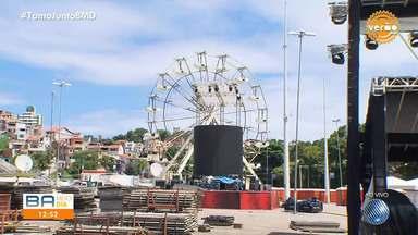 Arena Fonte Nova se prepara para receber o Festival de Verão neste fim de semana - Palcos e roda gigante já estão sendo montados para o evento que acontece nos dias 1º e 2 de fevereiro.